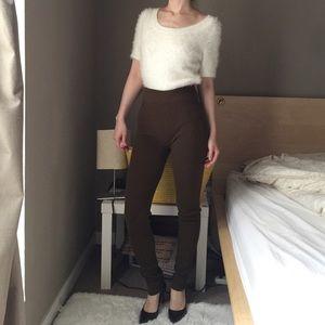 Zara Knit High Rise Skinny Stretch Pants
